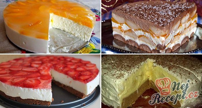 22 nejlepších receptů na pečené a nepečené dorty