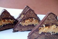Příprava receptu Snickers trojúhelníky, krok 1