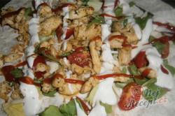 Příprava receptu Tortily plněné kuřecím masem, krok 5