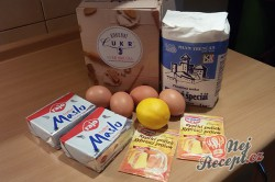 Příprava receptu Linecké vánoční cukroví - FOTOPOSTUP, krok 1