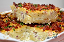 Příprava receptu Zapékané těstoviny s tvarohem a slaninou, krok 10