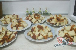Příprava receptu Dukátové buchtičky se žloutkově vanilkovým krémem, krok 5