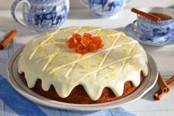 Příprava receptu Zdravější dezert - Mrkvový dort s citronovou polevou, krok 19