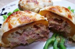 Příprava receptu Nejlepší příloha na světě - Plněné zapečené brambory, krok 3