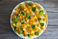 Příprava receptu Tvarohový cheesecake s broskvemi, krok 1