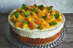 Příprava receptu Tvarohový cheesecake s broskvemi, krok 2