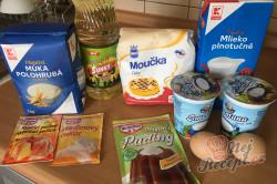 Příprava receptu Skvělý pudinkáčik s polevou ze zakysané smetany, krok 1