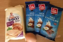 Příprava receptu Expresní čokoládová fantazie v listovém těstě, krok 1