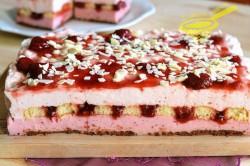 Příprava receptu Jahodový dezert bez pečení, krok 10
