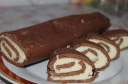 Příprava receptu Minutková kakaová roláda s kokosem, krok 10