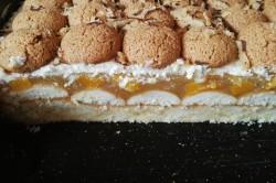 Příprava receptu Osvěžující koláček s broskvovým želé a piškoty, krok 3