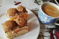 Příprava receptu Osvěžující koláček s broskvovým želé a piškoty, krok 4