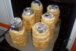 Příprava receptu Trdelníky s ořechovou drobenkou, krok 12