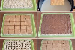 Příprava receptu Hříšný dort s banány bez pečení, krok 5