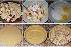 Příprava receptu Jablečno banánový dort zalitý smetanou, krok 1
