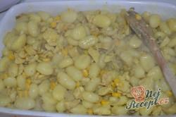 Příprava receptu Zapečené těstoviny (gnocchi) s kuřecím masem a hlívou ústřičnou, krok 3