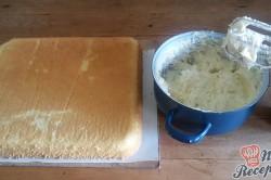 Příprava receptu Jednoduché citrónové řezy s bílou čokoládou, krok 9