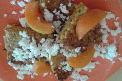 Příprava receptu Ovesné lívanečky s meruňkami a tvarohem, krok 2